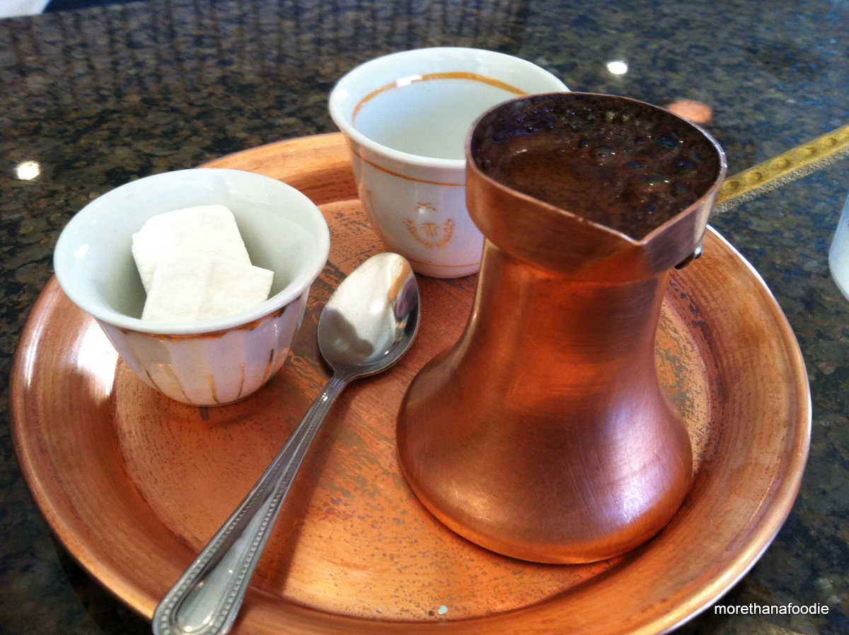 how to drink bosnian coffee