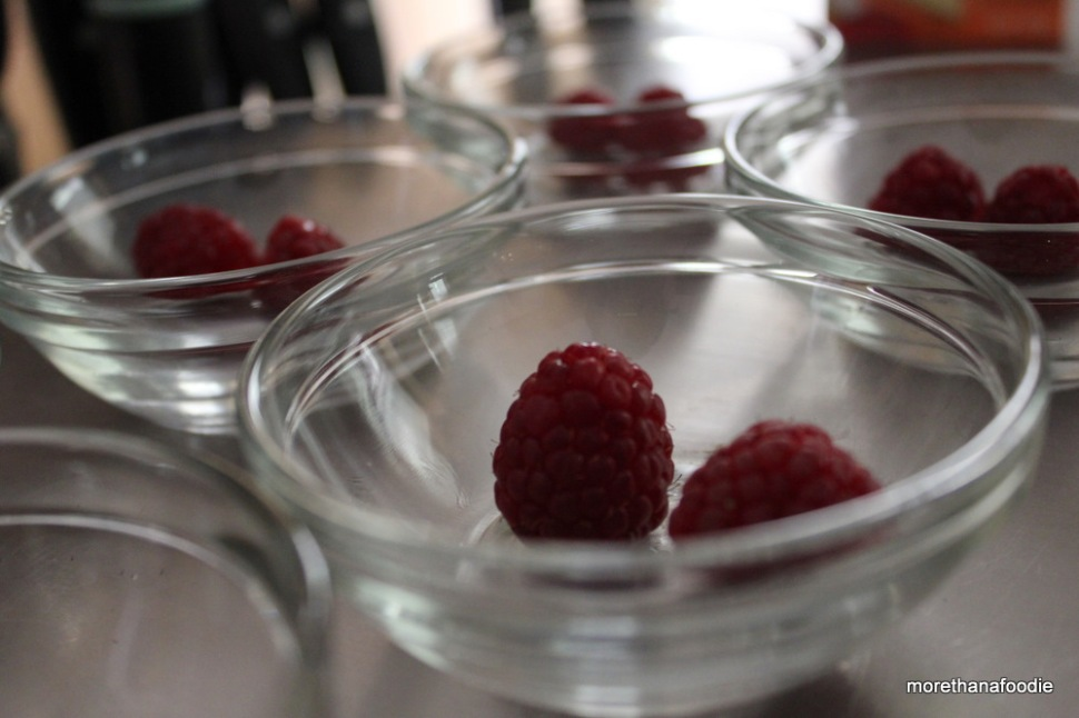 raspberries in dish