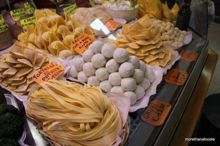 gnudi, ravioli, gnocchi