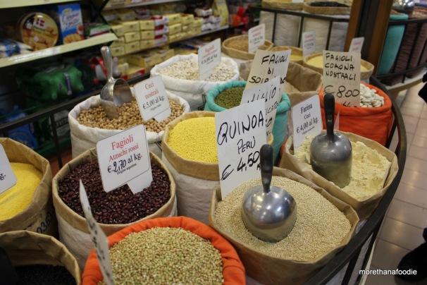 beans, quinoa, ceci flour