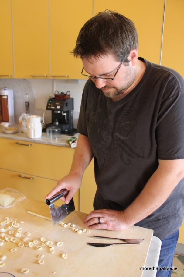 making pasta Orecchiette