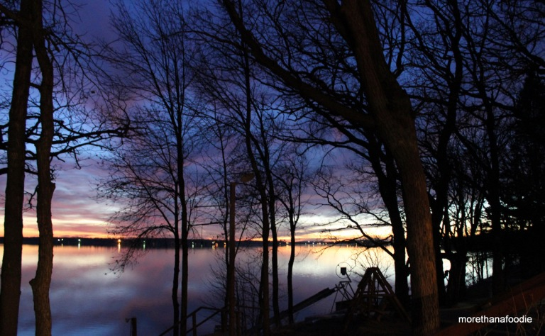 dusk on pelican lake minnesota