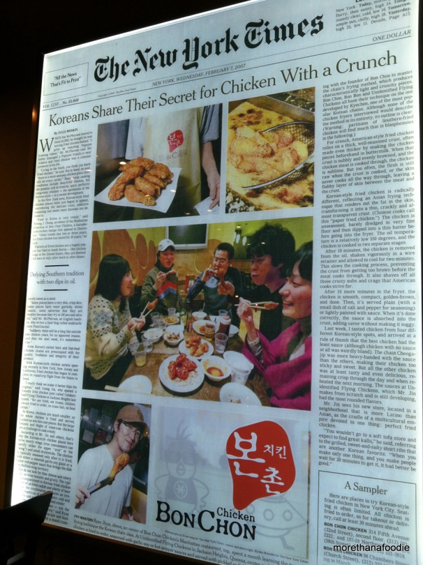 bon chon in new york times