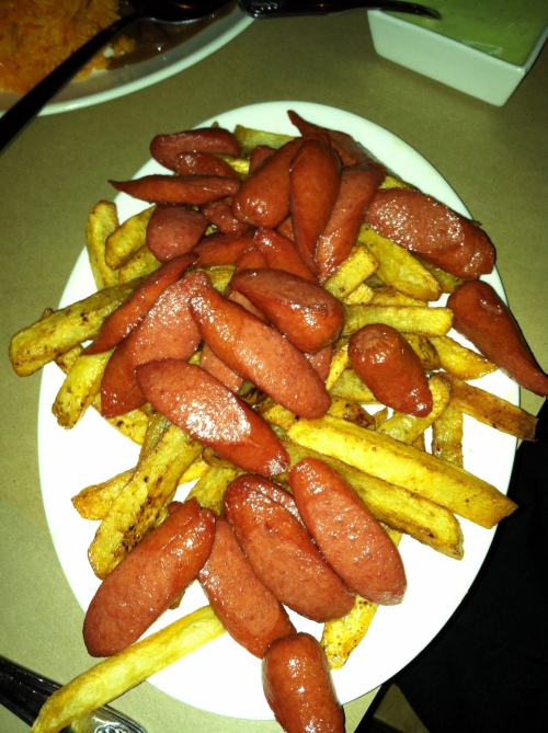fried potatoes and sausage