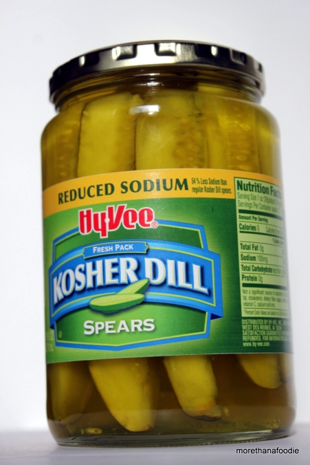 Hy Vee Reduced Sodium Kosher Dill Pickle Spears