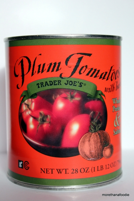 Trader Joes Plum tomatoes with basil