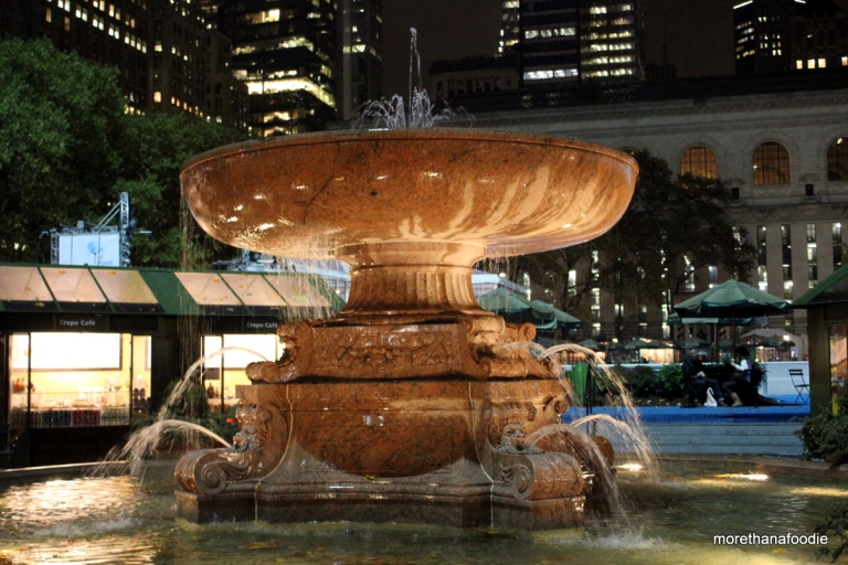 Fountain at Bryant Park NYC