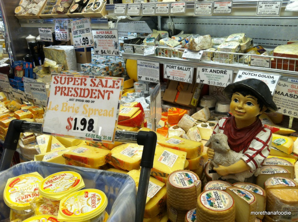 Cheese Section Zabars NYC