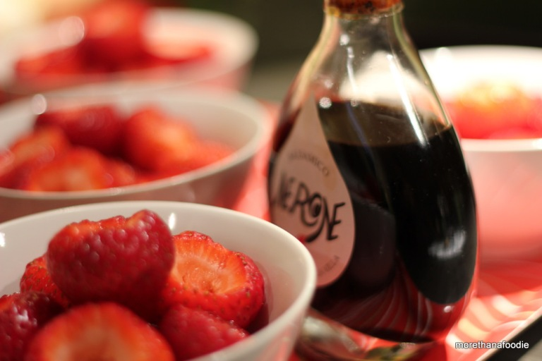 balsamic vinegar and strawberries