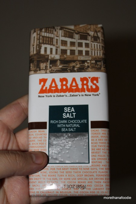 Zabars Sea Salt Chocolate