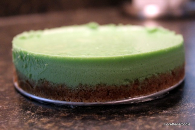 mini pandan cheesecake