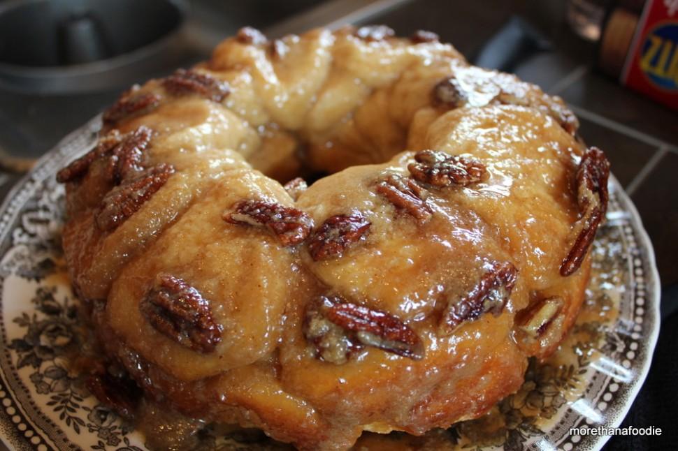 monkey bread angel food pan caramel bundt