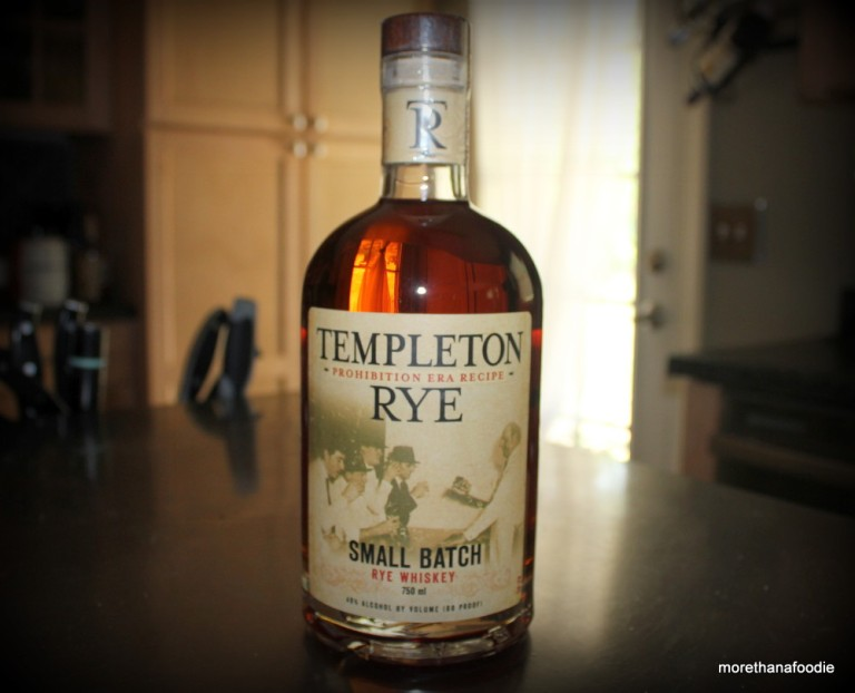 Templeton Rye Whiskey Iowa Small Batch Bottle