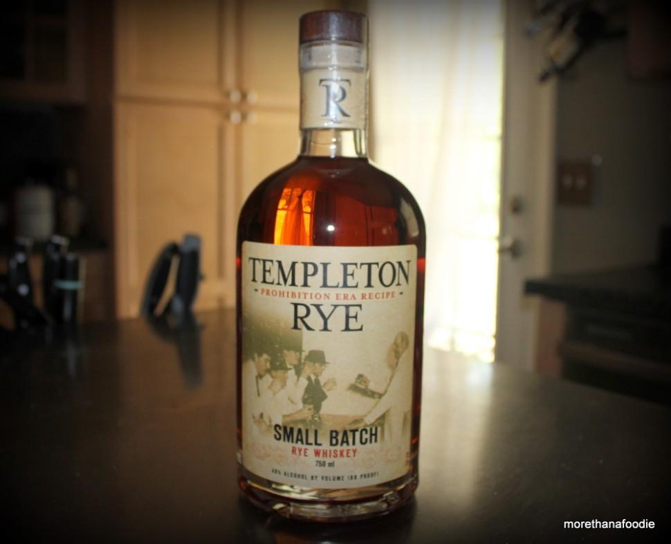 Templeton Rye Whiskey Iowa Small Batch Bottle