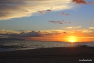 Niihau Facing Sunset from Barking Sands Beach Kauai Hawaii