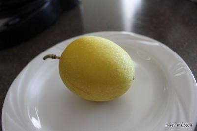 Yellow Lillikoi passion fruit kauai