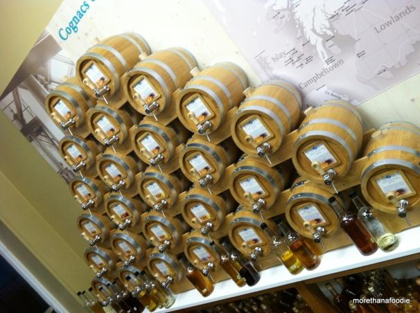 whiskey barrels cognacs