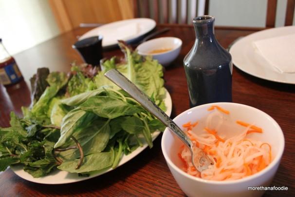 lettuce daikon carrots