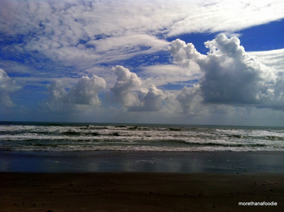 clouds beach waves beautiful shot of cocoa beach