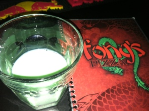 green hornet shot fongs pizza