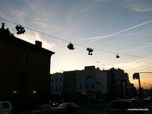 shoes on a line brooklyn nyc