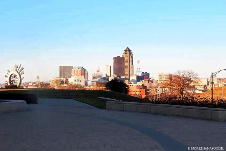 des moines skyline from capitol south