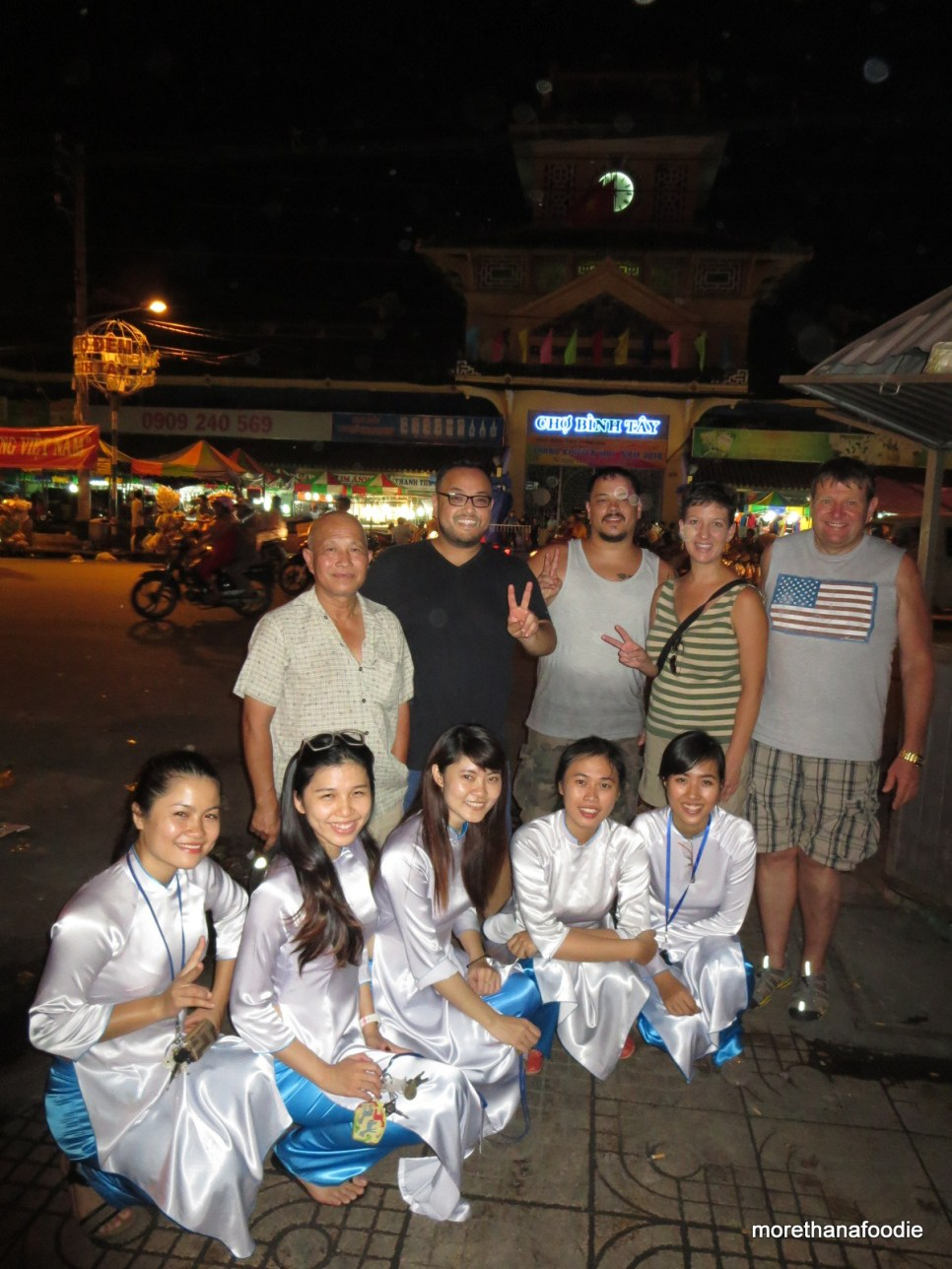 outside of binh tay market in district 6. My aunt My lives near.