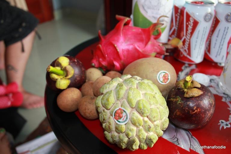 mang cau soursop mangosteen longan dragonfruit vietnam fruits