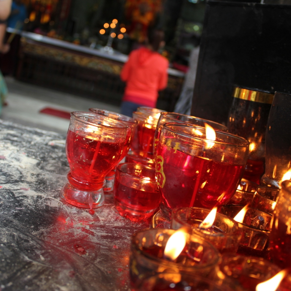 buddhist temple, saigon, ho chi minh city, candles