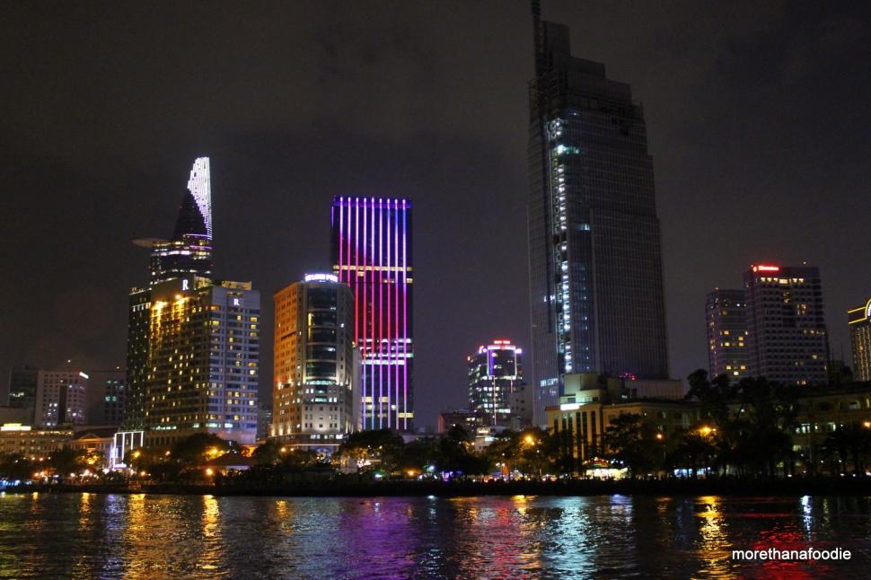 saigon hcmc ho chi minh city skyline night lotus tower bitexco center
