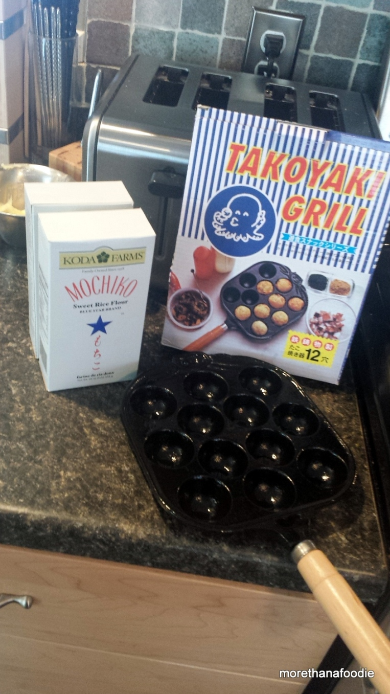 takoyaki grill mochiko rice flour maple bacon mochi