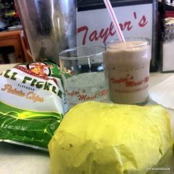 taylors maidrite marshalltown iowa chocolate shake old dutch dill pickle chips