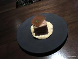 Socca Chip - Rabbitt Rillette, Pear