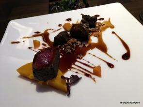 Venison Shank - Chocolate Milk Stout, Granola, Pomegranate