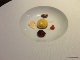 Aged Cheddar - Smoke, Iberico Gougere, Quince