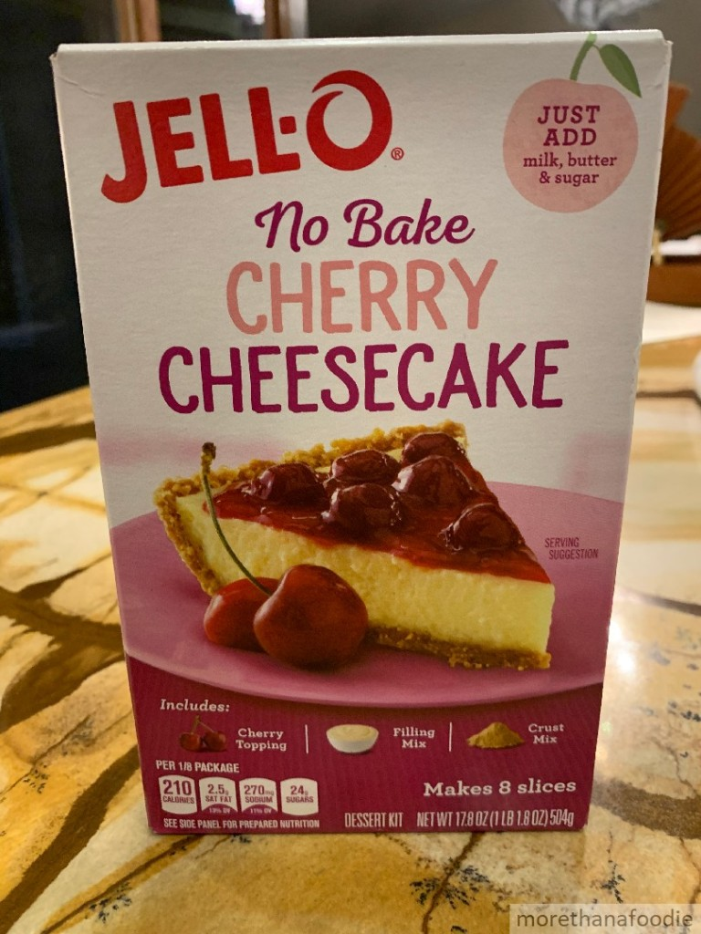 jello no bake cherry cheesecake craving